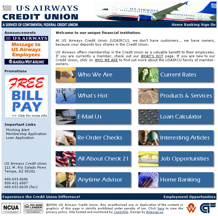 close us airways credit union preview